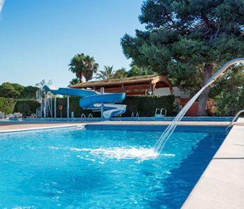 piscine chauffee au camping tarragone